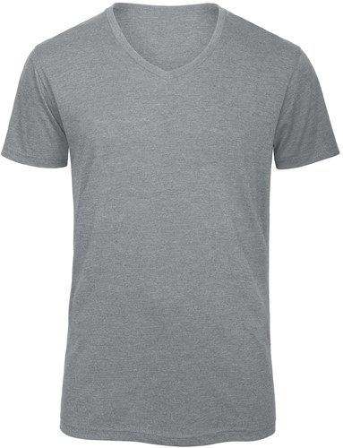 B&C TM057 V Triblend Heren T-shirt - Heather light Grijs - S-S-Heather light Grijs