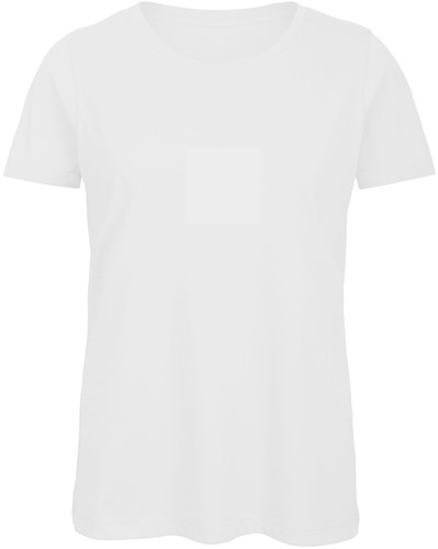 B&C TW043 Dames T-shirt - Wit - XS-Wit-XS