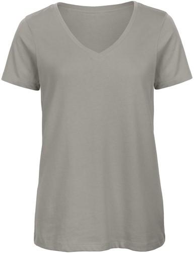 B&C TW045 V Dames T-shirt - Light Grijs - XS-XS-Light Grijs
