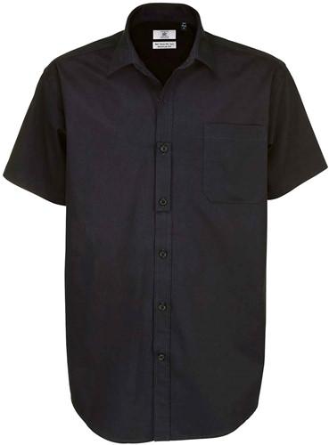 B&C Sharp SSL Heren Overhemd-Zwart-S