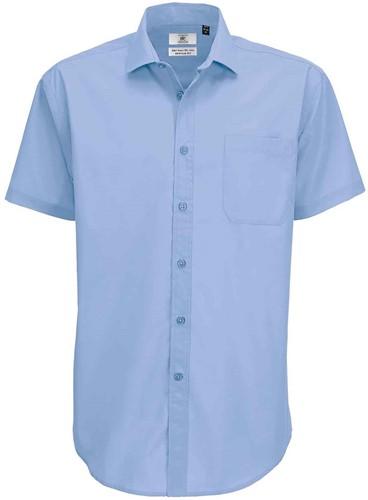 B&C BCSMP62 Smart Short Sleeve Heren Overhemd-S-Business blauw