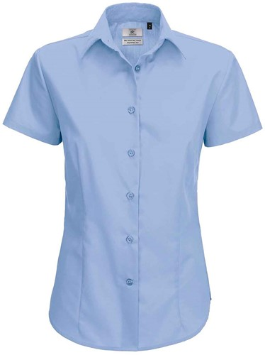 B&C Smart SSL Dames Blouse-XS-Business blauw
