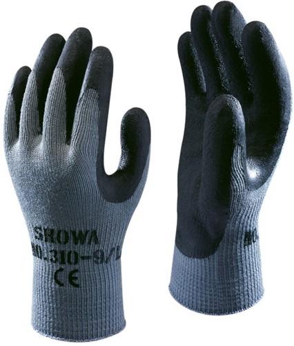 Showa 310 Black Werkhandschoen Latex-7-S