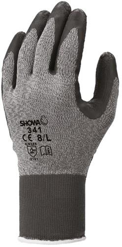 Showa 341  Werkhandschoen Latex Grijs-6-S
