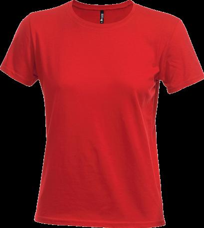 Acode Dames t-shirt van zware kwaliteit-Rood-S