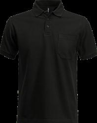 OUTLET! Acode Polo piqué zware kwaliteit met borstzak - Zwart - Maat M