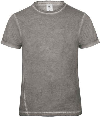 SALE! B&C 10071 DNM Plug In Heren T-shirt Grijs Clash - Maat XL