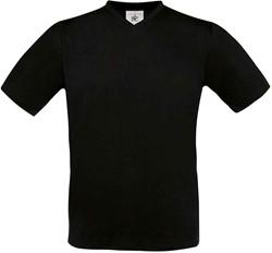 OUTLET! B&C Exact V-Neck T-shirt- Zwart - Maat S
