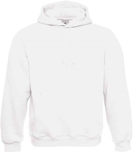 SALE! B&C 10044 Hooded Sweater - Wit - Maat 2XS