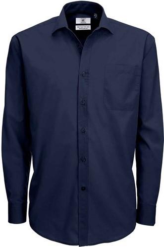 OUTLET! B&C Smart LSL Heren Overhemd - Navy - Maat L