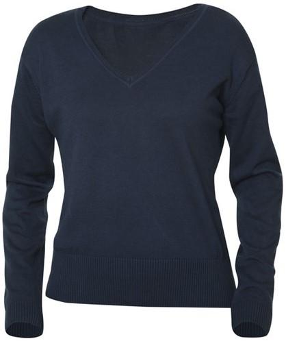 SALE! Clique 021176 Aston dames V-neck sweater Dark navy - Maat L
