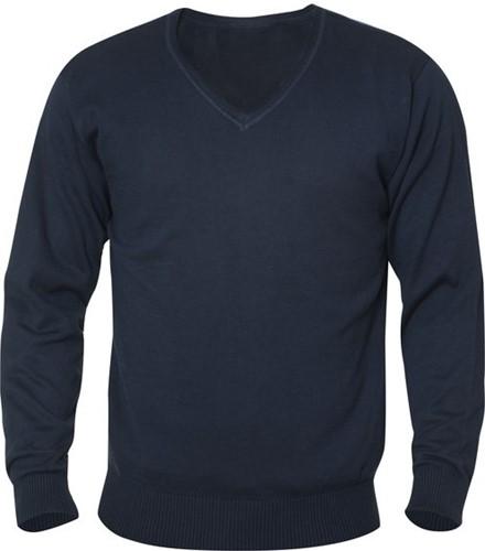SALE! Clique Aston heren V-neck sweater - Dark navy - Maat L