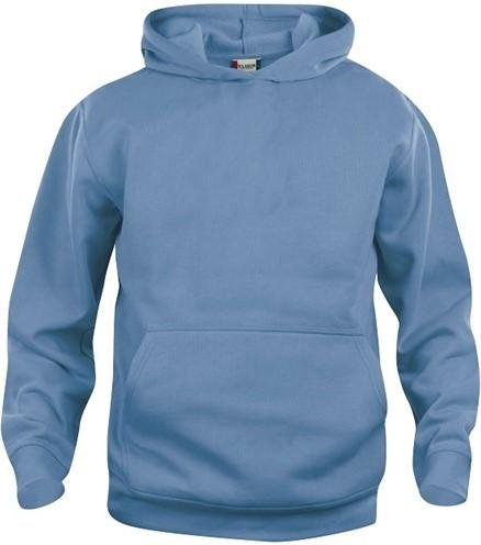 SALE! Clique 021021-3 Basic hoody kinderen- Lichtblauw-  Maat 90/100