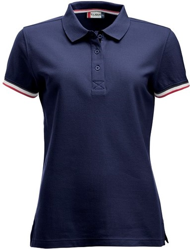 OUTLET! Clique Newton dames polo - Dark Navy - Maat L/40