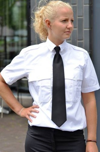 Dames Pilot shirt - KM Wit