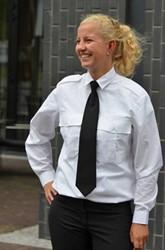 OUTLET! Dames Pilot shirt - Wit - Maat 40