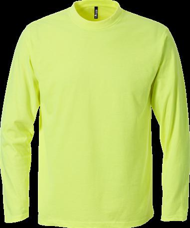 Acode T-shirt, lange mouw-S-Lichtgeel