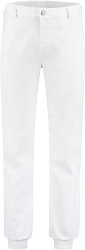 WW4A Foodbroek Polyester/Katoen met manchetten - Wit
