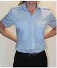 Dames Pilot shirt - KM Licht blauw