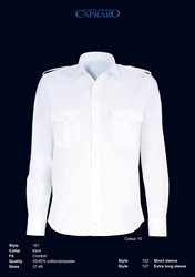 OUTLET! Giovanni Capraro 101-10 Pilot Overhemd - Wit - Maat 37