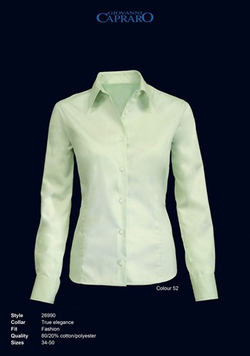 OUTLET! Giovanni Capraro 26990-52 Blouse - Licht Groen - Maat 44