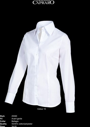 OUTLET! Giovanni Capraro 29300-10 Blouse - Wit - Maat 42