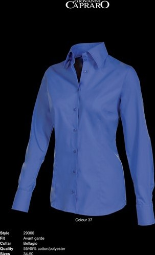 OUTLET! Giovanni Capraro 29300-37 Blouse - Donker Blauw - Maat 44