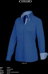 OUTLET! Giovanni Capraro 29309-36 Blouse - Donker Blauw (Blauw accent) - Maat 50