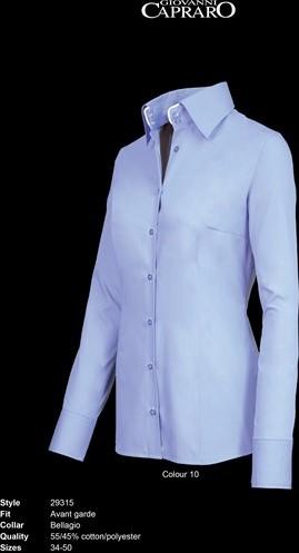 SALE! Giovanni Capraro 29315-10 Blouse - Licht Blauw (Wit accent) - Maat 34