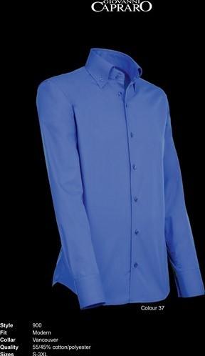 OUTLET! Giovanni Capraro 900-37 Overhemd - Donker Blauw - Maat L