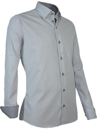SALE! Giovanni Capraro 938-12 Heren Overhemd - Grijs - Maat XL