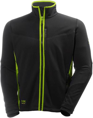 SALE! Helly Hansen 72170 Magni Fleece Jacket - Zwart/Limoen - Maat L