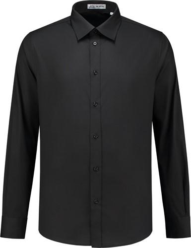 SALE! Me Wear 5010 Heren overhemd Brandon LM - Zwart - Maat 4XL