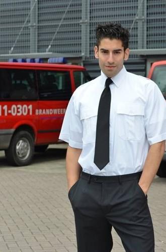 Heren Pilot shirt - KM Wit