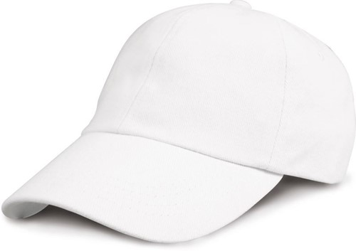 SALE! Headwear RC024X Low Profile Hevy Brushed Cotton Cap - Wit - Onesize