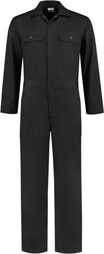 WW4A Kinderoverall Polyester/Katoen - Zwart