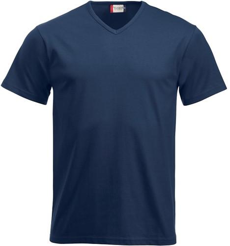 SALE! Clique Fashion-T V-neck T-shirt - Navy - Maat M