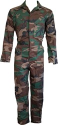 WW4A Kinderoverall Camouflage Polyester/Katoen - Bruin/Groen/Zwart