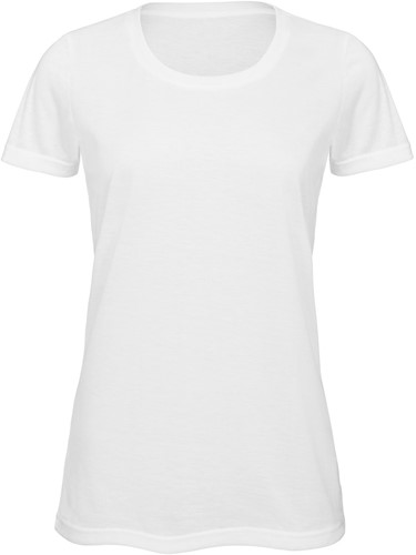 B&C TW063 Sublimation Dames T-shirt - wit