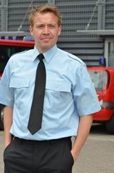 Heren Pilot shirt - KM Licht blauw