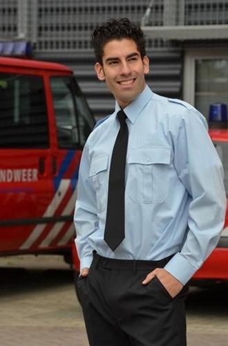 Heren Pilot shirt - LM Licht blauw