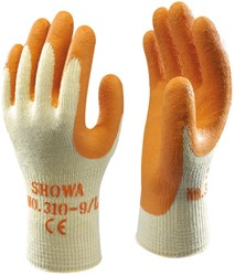 Showa 310 Oranje Werkhandschoen latex