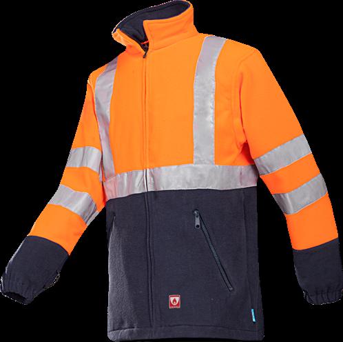 SALE! Sioen Rainier Vlamvertragende Signalisatie Fleece - Oranje - Maat S