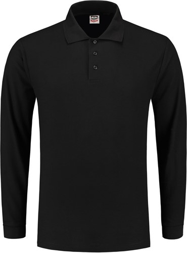 SALE! Tricorp PPL180 Poloshirt Lange Mouw - Zwart - Maat L