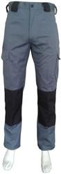 WW4A Kinderwerkbroek Katoen/Polyester - Grijs/Zwart