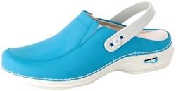 Wash&Go Clog Open met Elastiek - baby blauw